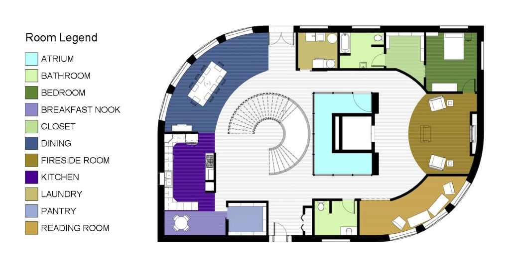 1ST FLOOR COLOR KEY PLAN