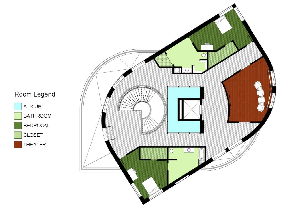 2ND FLOOR COLOR KEY PLAN