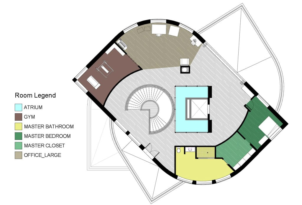 3RD FLOOR COLOR KEY PLAN