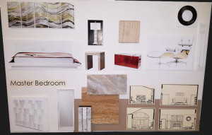 Smith Residence - Master Bedroom board